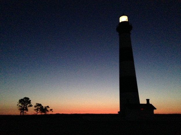 Bodie Island Lighthouse in pre-dawn light